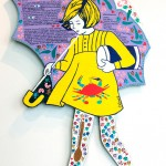 "Tazewell Morton Salt Girl with Gumbo Recipe Oil on wood panel. 35"" x 21"" x 1/8"". $400.00"