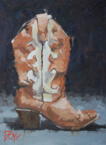 "Little Cowboy Boot. David Boyd. Original Oil Painting. 12""x16"". $1,200"